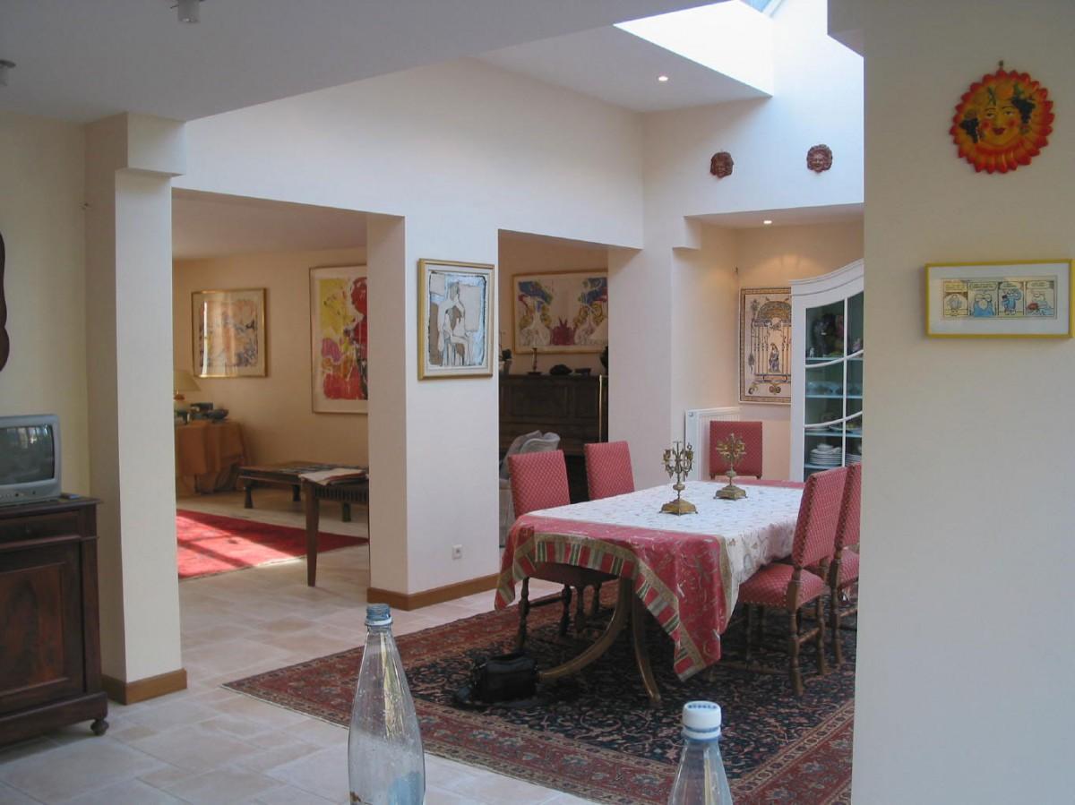 r novation et r am nagement d 39 une maison bourgeoise des ann es 60 xavier vanderlinden architecte. Black Bedroom Furniture Sets. Home Design Ideas